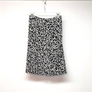 Allison Taylor Black & White Loopy SkirtSz S EUC